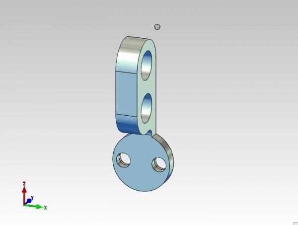 Rohrhalter für Festverrohrung Hydraulikbagger 2fach Stiel