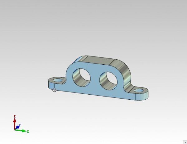 Rohrhalter für Festverrohrung Hydraulikbagger 2fach