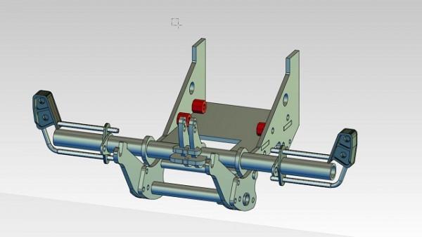 Claas Xerion Frontkraftheber Fertigmodell Modellpräzision